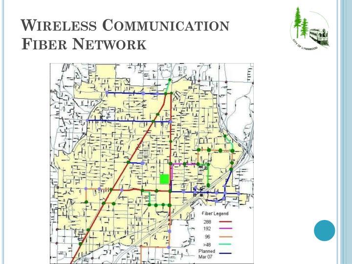 Wireless communication fiber network
