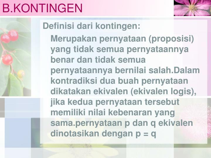 B.KONTINGEN