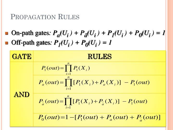Propagation Rules