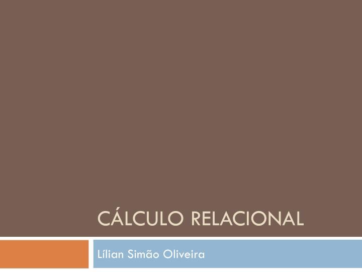 c lculo relacional n.