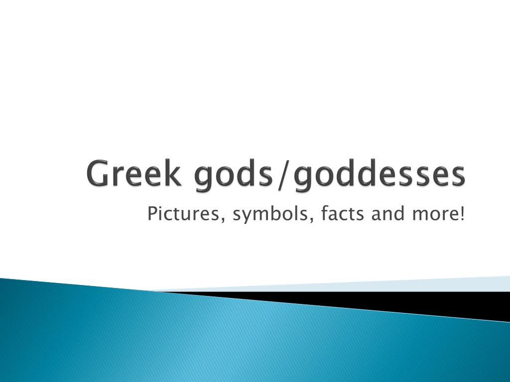 Ppt Greek Godsgoddesses Powerpoint Presentation Id3447462
