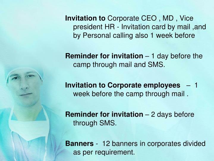 Invitation to