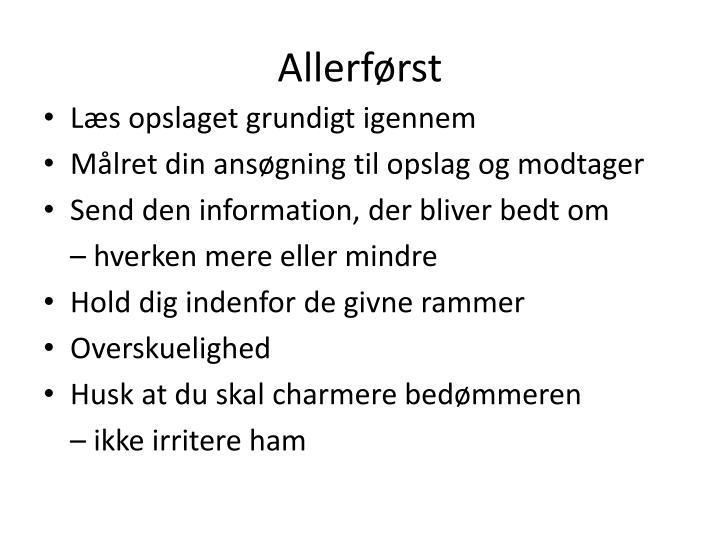 Allerf rst