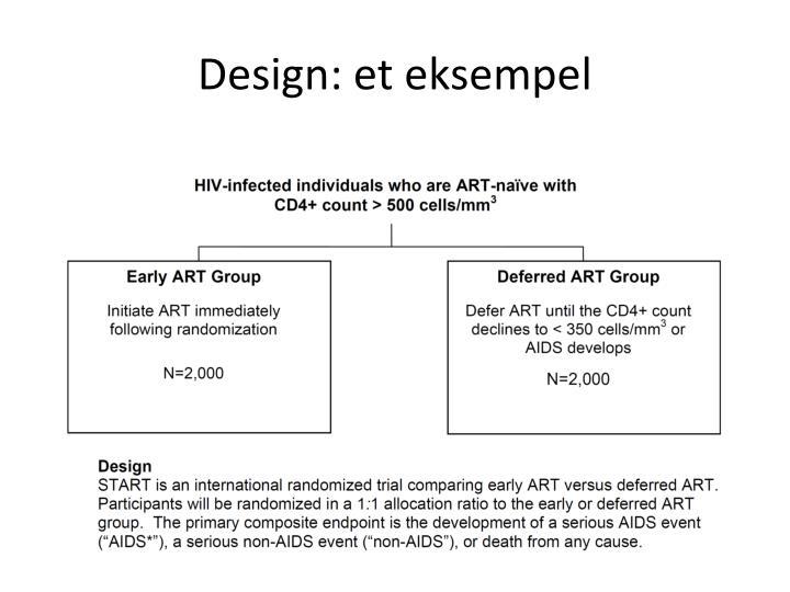 Design: et eksempel