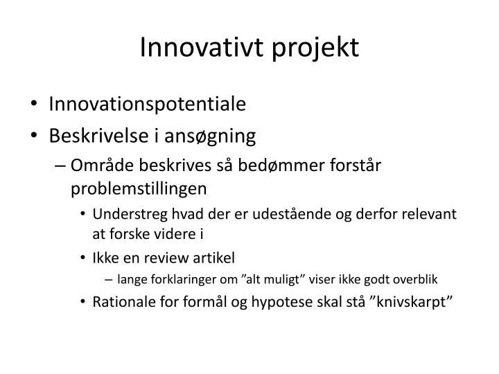 Innovativt projekt