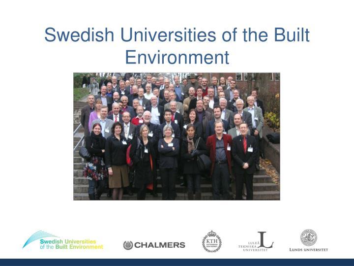 swedish universities of the built environment