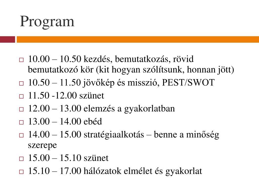 jövőkép program