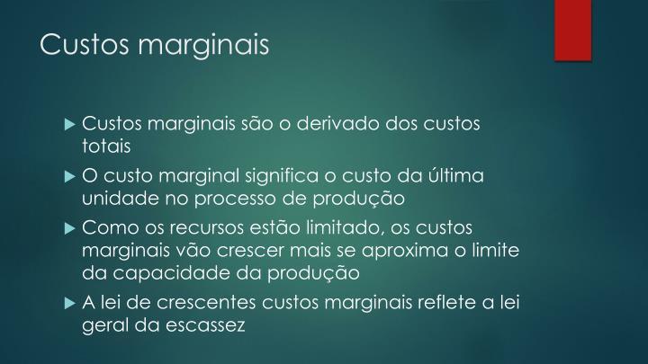 Custos marginais