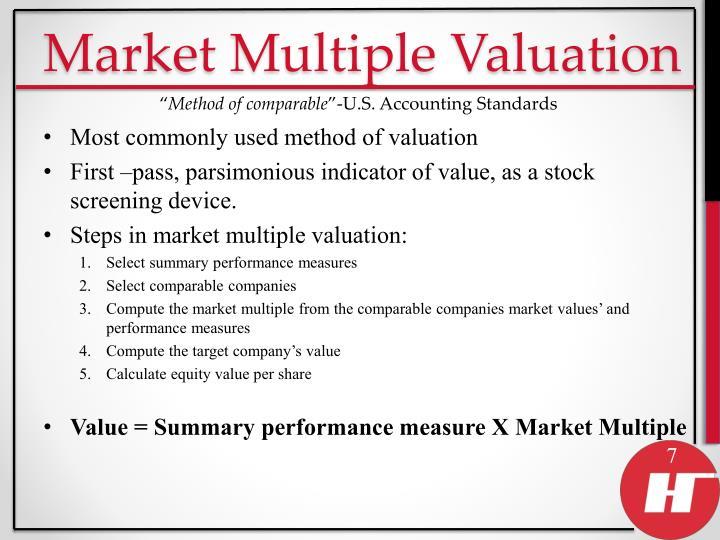 Market Multiple Valuation