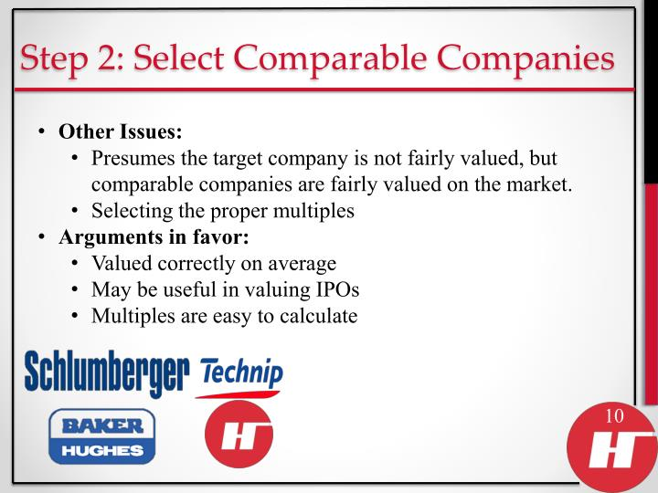 Step 2: Select Comparable Companies