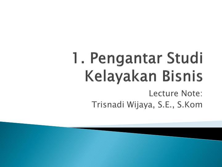 Laporan Studi Kelayakan Bisnis Ppt