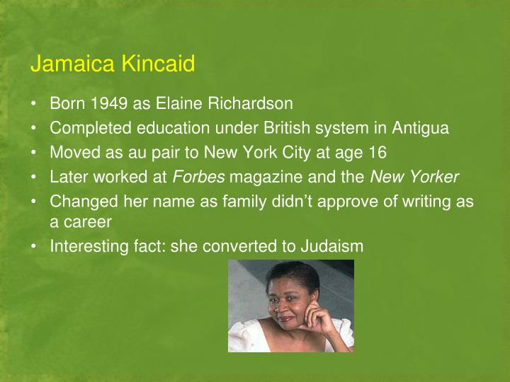 a small place by jamaica kincaid Date read: may 19th 2017 published: 2000 publisher: farrar, straus and giroux pages: 81 the blurb lyrical, sardonic, and forthright, a small place magnifies our vision of one small place with swiftian wit and precision jamaica kincaid's expansive essay candidly appraises the ten-by-twelve-mile island in the british west indies where she grew up.