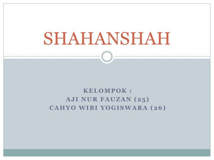 Shahanshah
