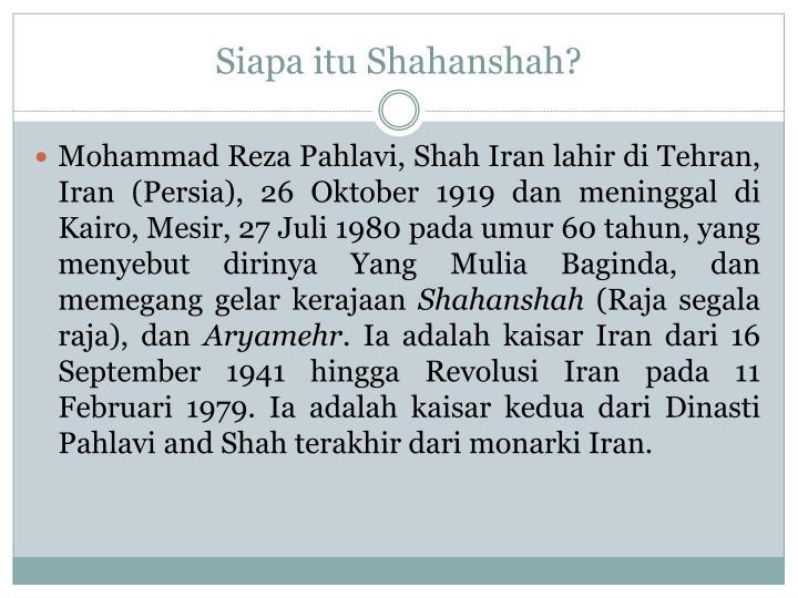 Siapa itu shahanshah