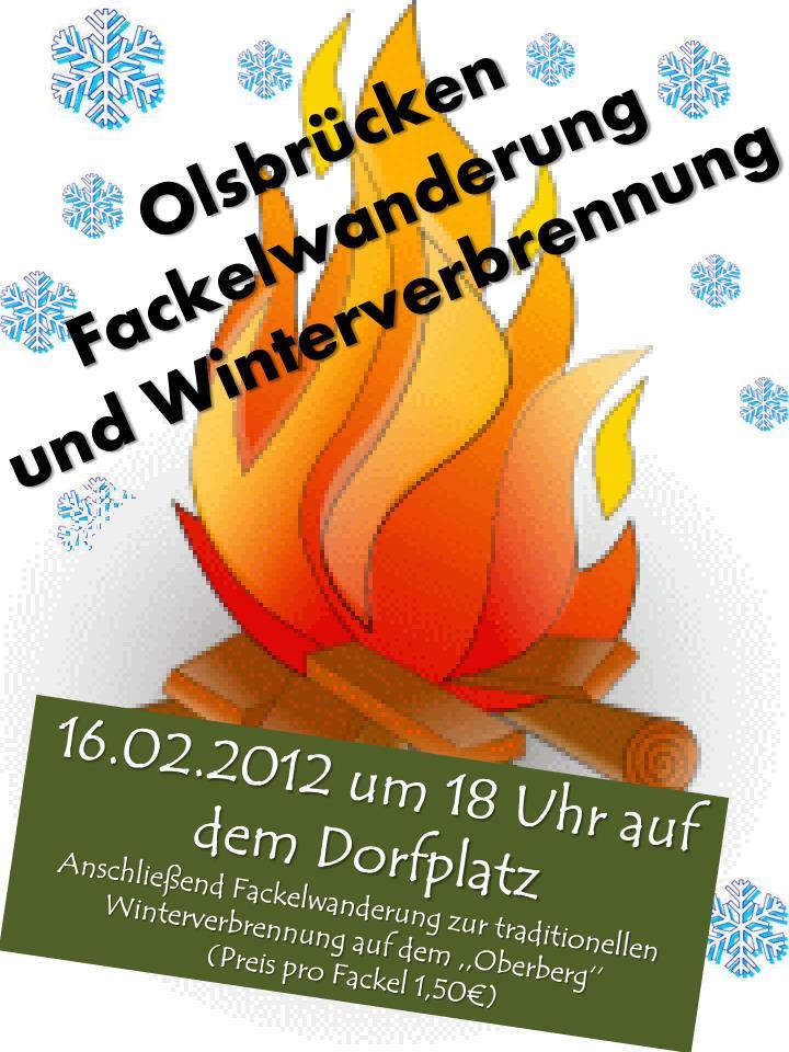 Olsbr cken fackelwanderung und winterverbrennung