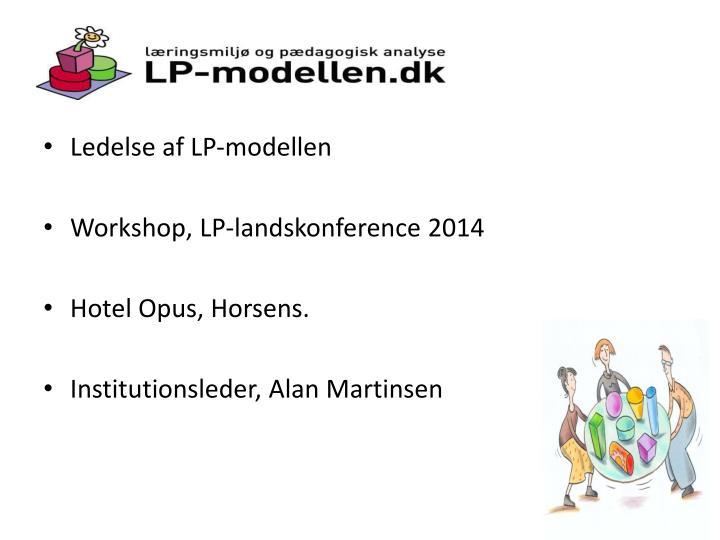 Ledelse af LP-modellen