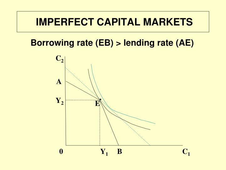 IMPERFECT CAPITAL MARKETS