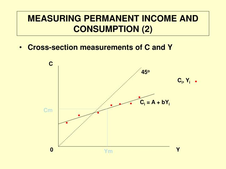 MEASURING PERMANENT INCOME AND CONSUMPTION (2)