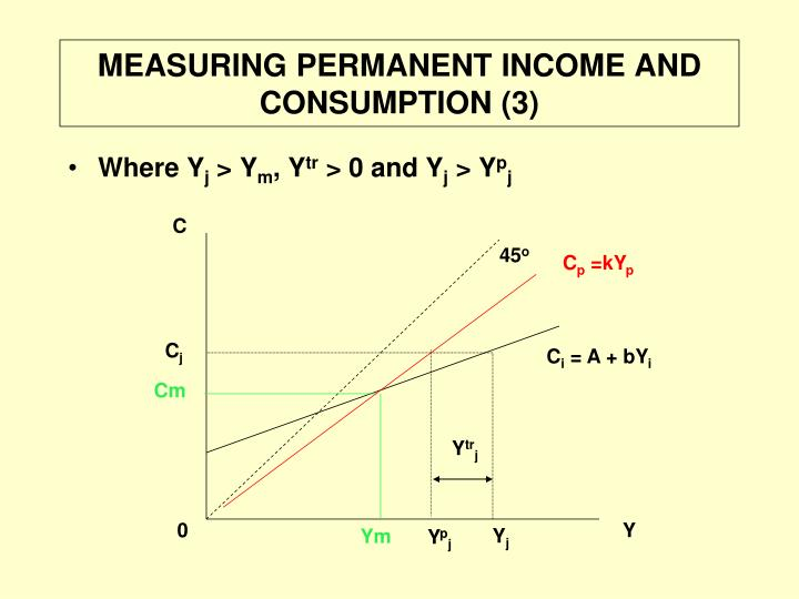 MEASURING PERMANENT INCOME AND CONSUMPTION (3)