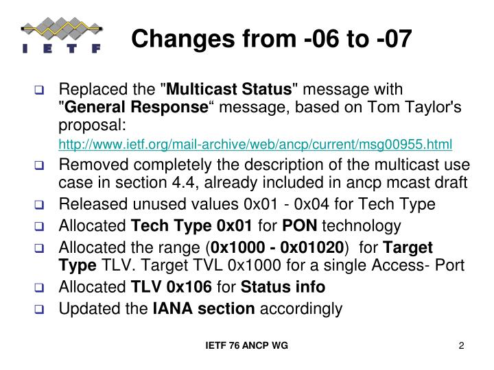 Changes from 06 to 07