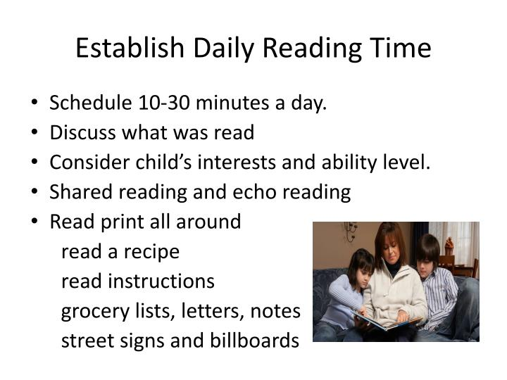 Establish Daily Reading Time