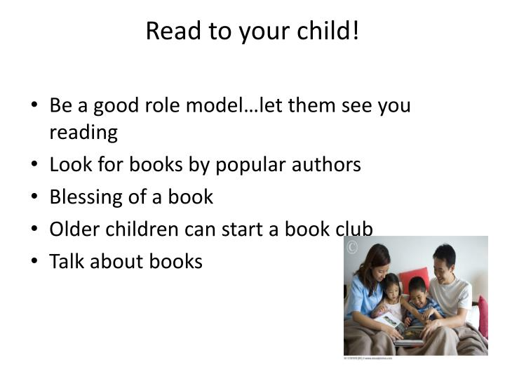 Read to your child!