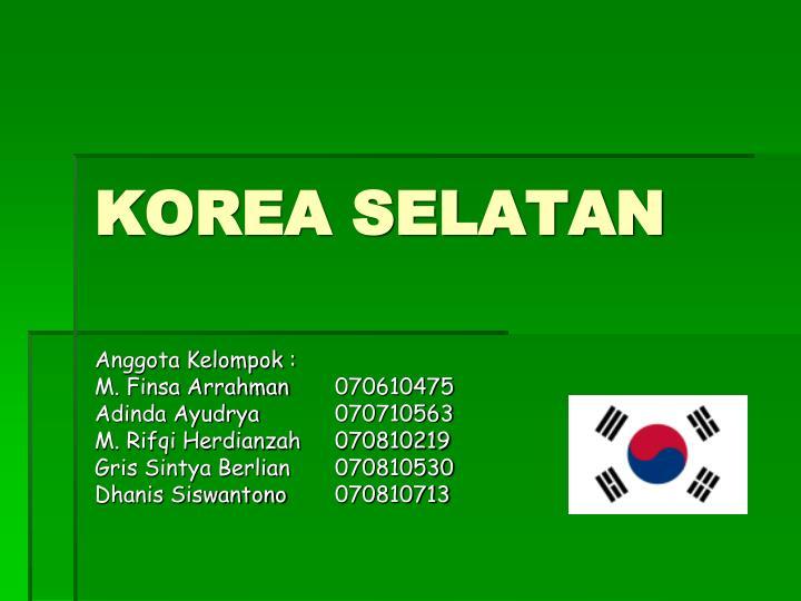 korea selatan n.