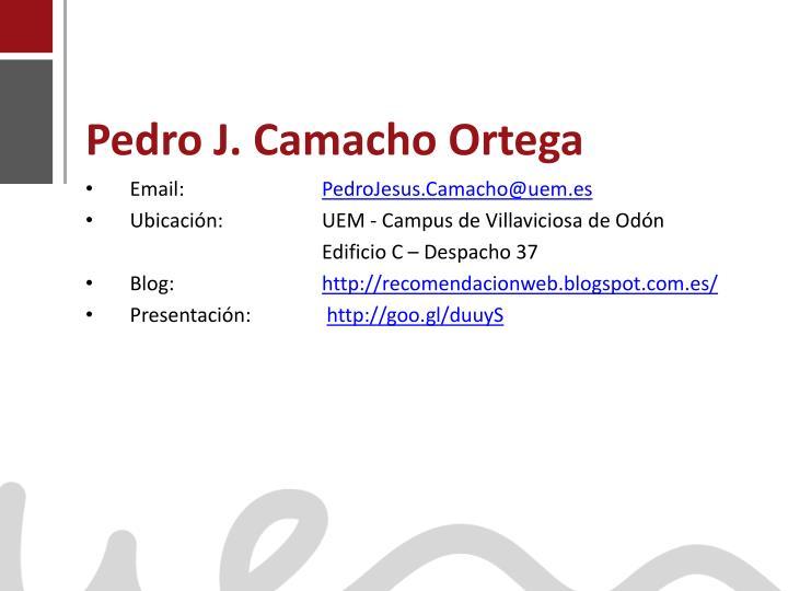 Pedro j camacho ortega