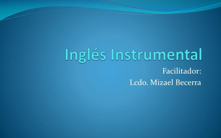 Ingl s instrumental