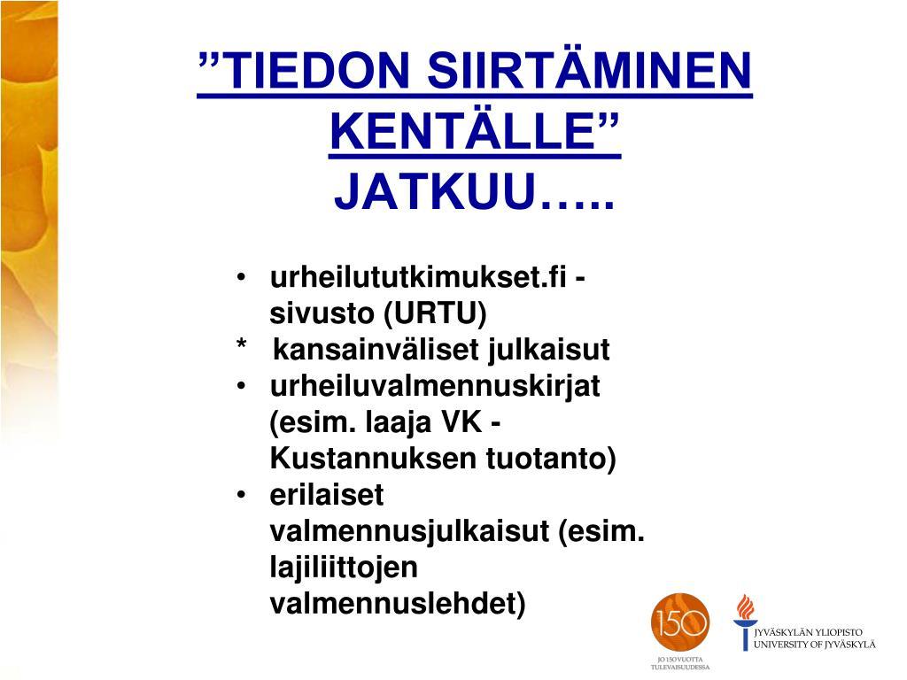 Jyväskylän Yliopisto Väitöskirjat