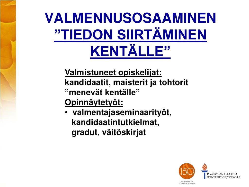 Jyväskylän Yliopisto Gradut