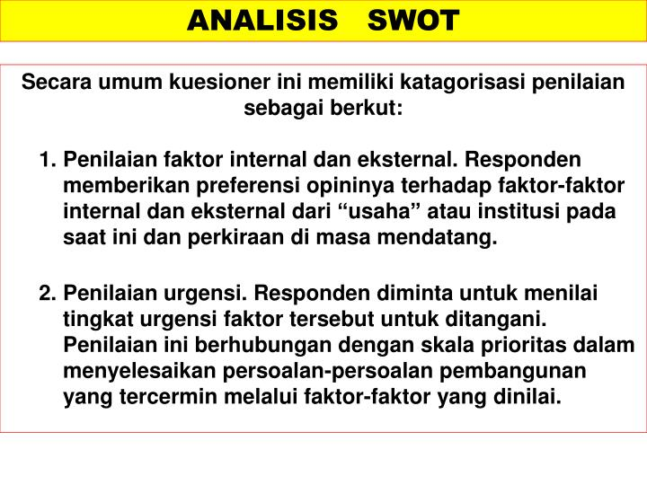 Ppt Model Analisis Swot Powerpoint Presentation Id 3449861