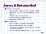 survey rekomendasi