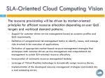 sla oriented cloud computing vision