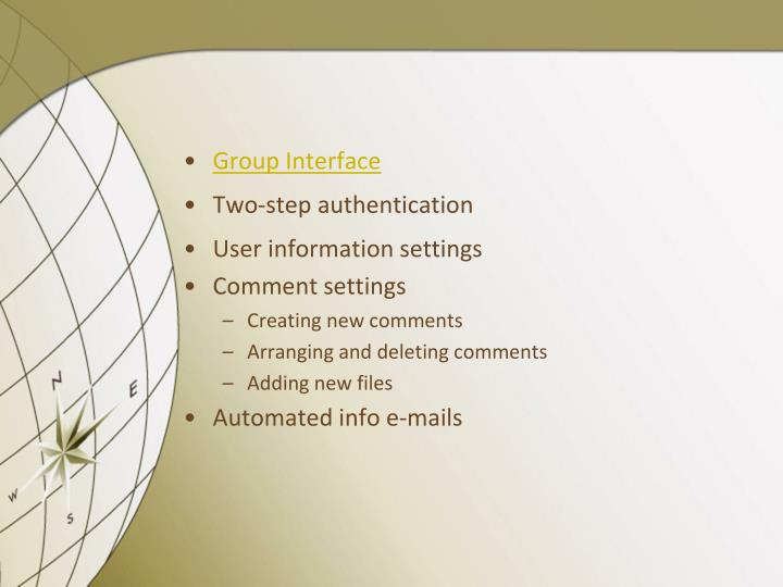 Group Interface