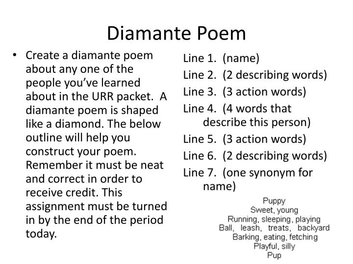 diamante poem n.