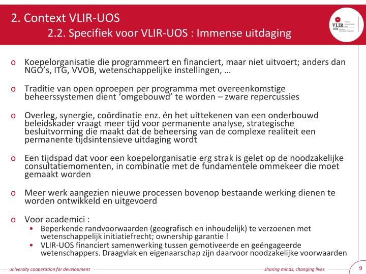 2. Context VLIR-UOS