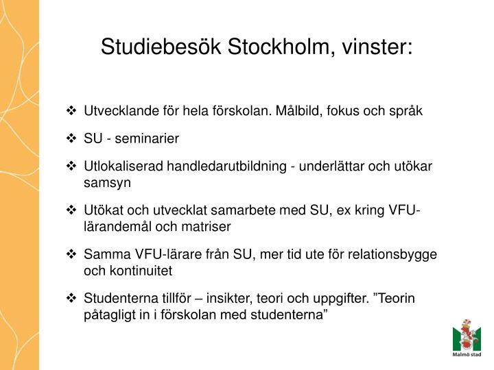 studiebes k stockholm vinster n.