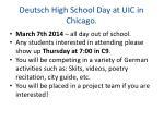 deutsch high school day at uic in chicago