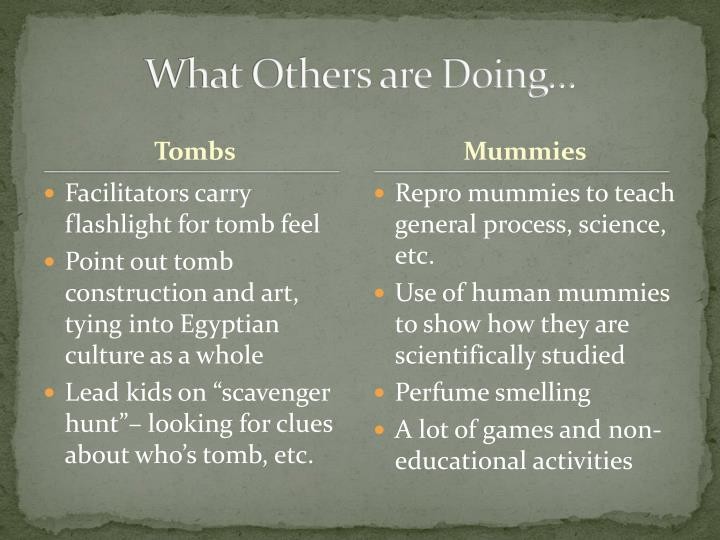 What Others are Doing…
