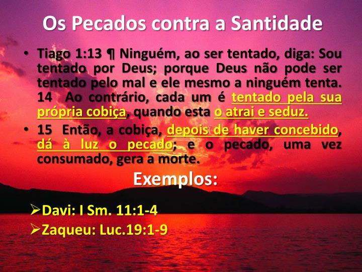 Os Pecados contra a Santidade