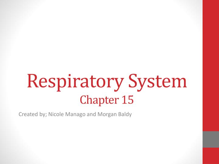 respiratory system chapter 15 n.