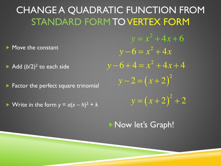 Write Quadratic Function In Standard Form College Paper Academic