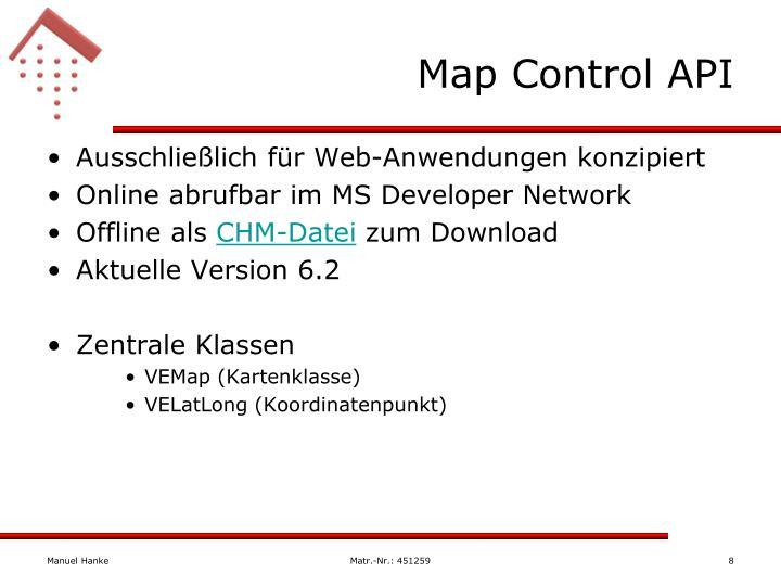 Map Control API
