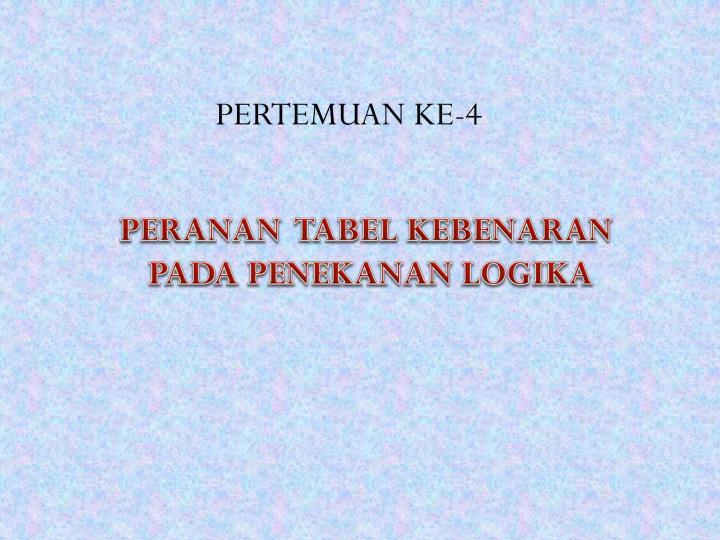 PERTEMUAN KE-4