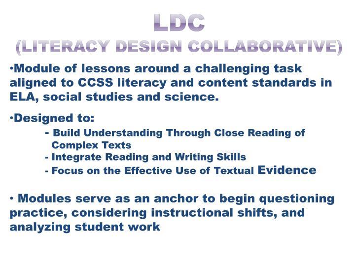 Ldc literacy design collaborative