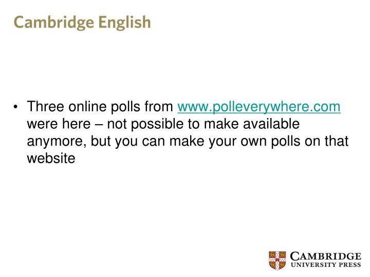Three online polls from