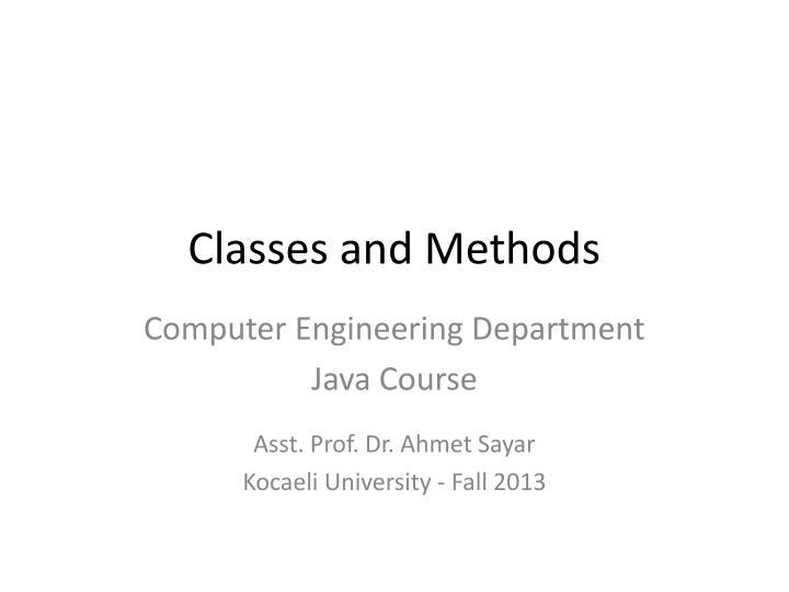 classes and methods n.