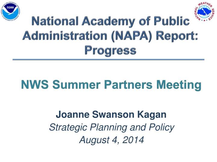 national academy of public administration napa report progress n.