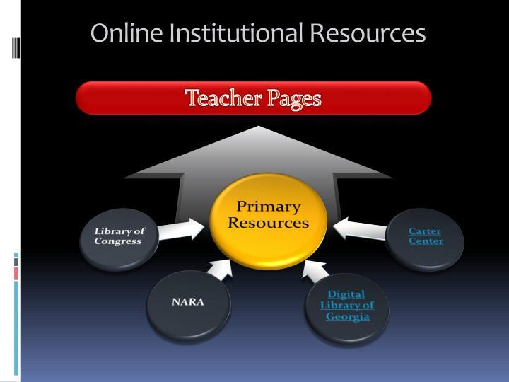 Online Institutional Resources